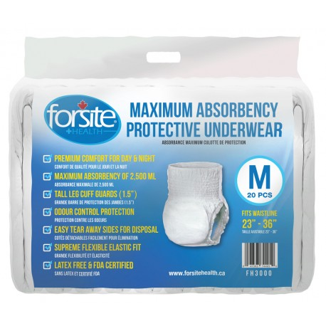 Paquet de 20 slips absorbants taille M Forsite